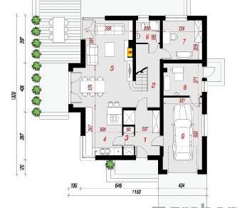 Проект  Дом в тимьяне 5, 195.1 м2