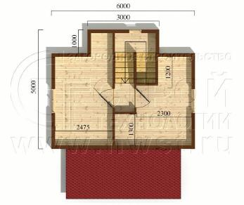 Проект дома Проект дома №21, 33 м2