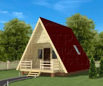 Проект дома Проект дома №121, 28 м2
