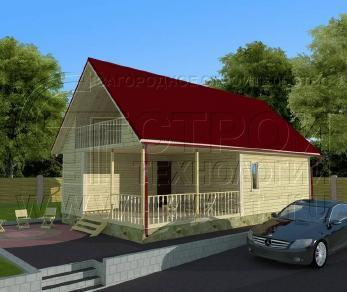 Проект дома Проект дома №52, 66 м2