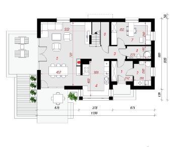 Проект  Дом в майоране 2 (Н), 153.6 м2