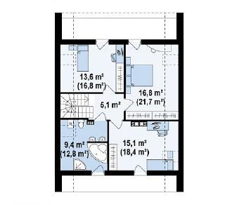 Проект дома Проект Z215, 151.7 м2