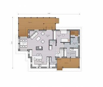 Проект  Проект загородного дома Lind 160, 235 м2