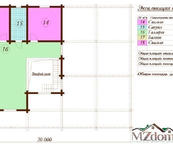 Проект дома Проект дома из клееного бруса «Венеция», 368.1 м2
