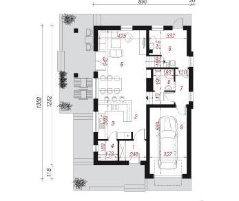 Проект  Дом в авене, 160.1 м2