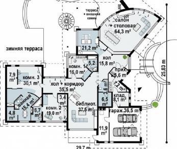 Проект дома Проект zr1, 515.6 м2