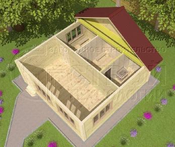 Проект бани Баня. Проект №8, 36 м2