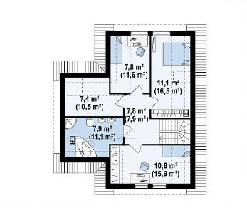 Проект дома Проект Z37, 142.6 м2