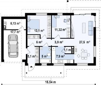 Проект дома Проект z259, 104.7 м2