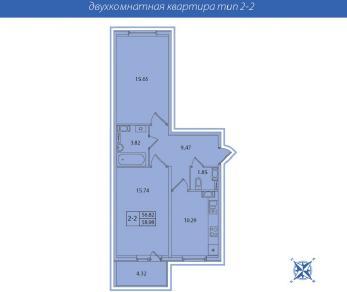 Продажа квартиры пос. Новогорелово, Волхонское ш. 1-3