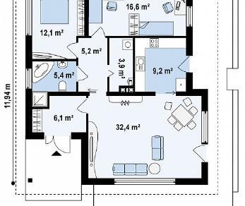 Проект дома Проект Z141, 90.9 м2