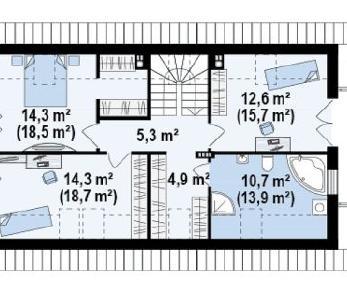 Проект дома Проект z292, 165.2 м2