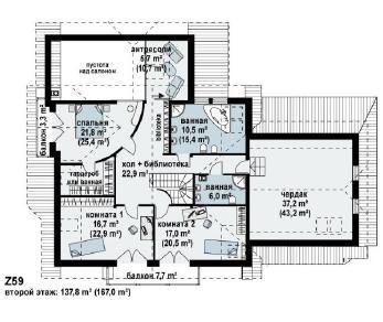 Проект дома Проект z59, 357.5 м2