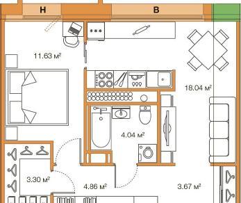 Продажа квартиры Комендантский просп., д. 58, к. 3