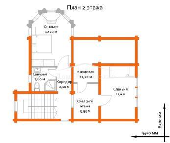 Проект дома Проект БН-134, 101.65 м2