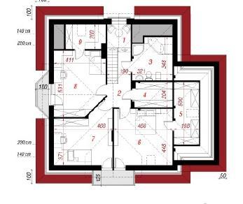 Проект  Дом в тимьяне 2, 194.9 м2