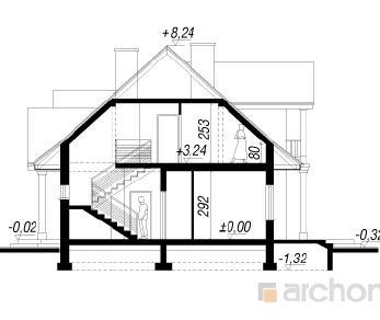 Проект  Дом в астрах, 190.4 м2