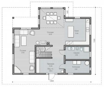 Проект  Проект загородного дома Tall 190, 218 м2