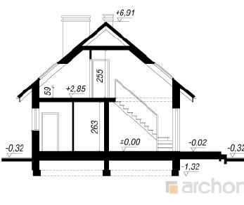 Проект  Дом в бруснике 2, 111.53 м2