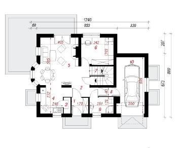 Проект  Дом в рододендронах 2 (П), 207.5 м2