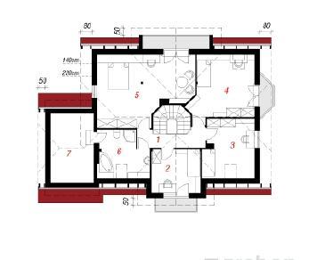 Проект  Дом под вишней , 198.8 м2