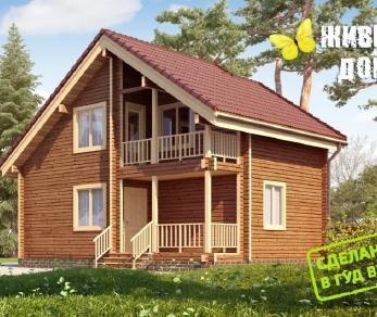 Проект  Деревянный дом из клееного бруса, 106 м2