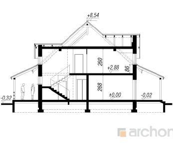 Проект  Дом в пеонах, 173.3 м2