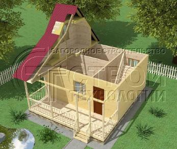 Проект дома Проект дома №14, 30 м2