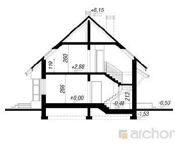 Проект  Дом в папоротнике, 128.1 м2