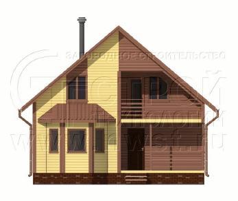 Проект дома Проект дома №117, 66 м2