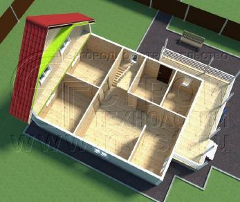Проект дома Проект дома №115, 63 м2