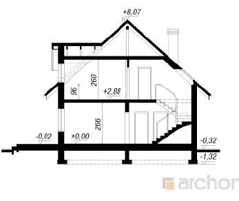 Проект  Дом в деванне 2, 148.35 м2