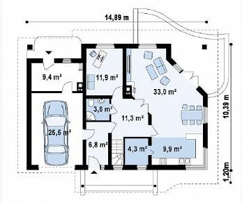 Проект дома Проект Z56, 216.8 м2
