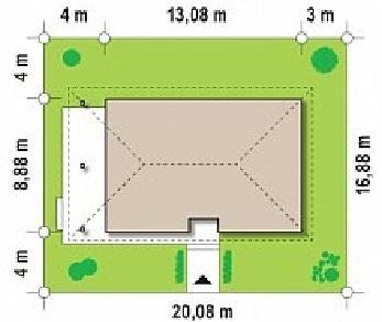 Проект дома Проект Z55, 94.6 м2