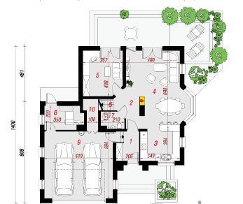 Проект  Дом под каркасом (H), 184.6 м2