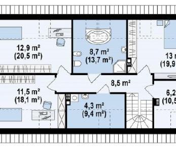 Проект дома Проект z187, 198.1 м2
