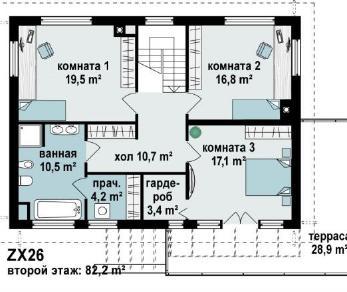 Проект дома Проект zx26, 196.6 м2