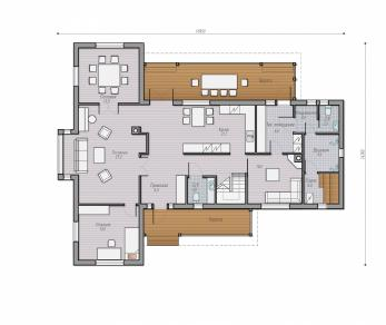 Проект  Проект загородного дома Lind 228, 296 м2
