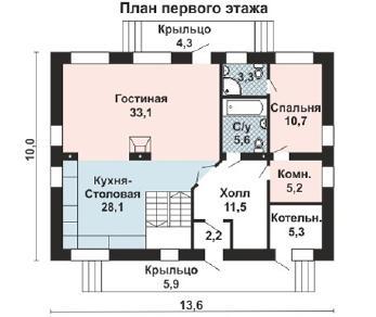 Проект дома AS-2108-4, 221 м2