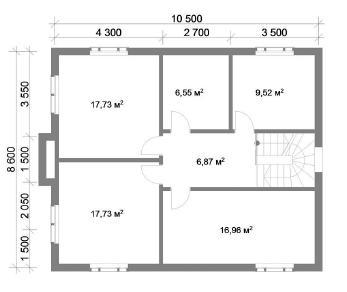 Проект  Марьино 3 - дом из кирпича, 150 м2