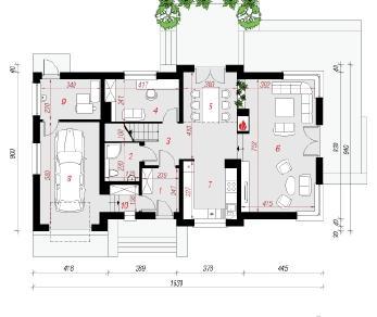 Проект  Дом в молиниях, 193 м2