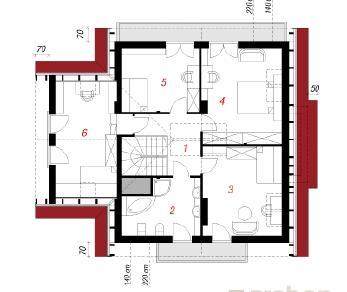 Проект  Дом в гортензиях, 164.3 м2