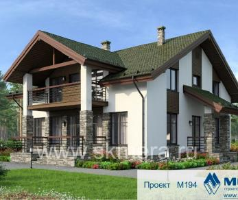 Проект дома M194, 231 м2