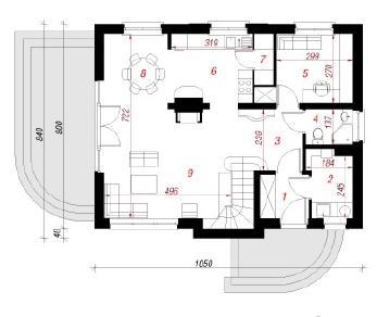 Проект  Дом в солодках, 117.5 м2