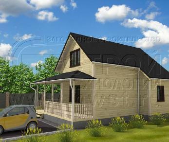 Проект дома Проект дома №28, 48 м2