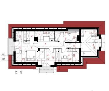 Проект  Дом в люпине 2, 138.4 м2