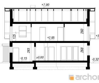 Проект  Дом в лиметках, 146.2 м2