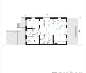 Проект  Дом под тисами 2, 190.5 м2