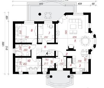 Проект  Дом в оливках (ПД), 165.2 м2