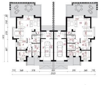 Проект  Дом в анемонах (Р2), 343.8 м2